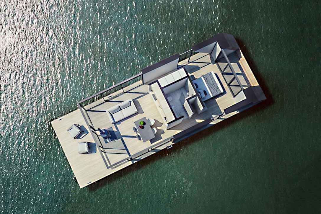 Cette charmante maison flottante fonctionne à l'énergie solaire