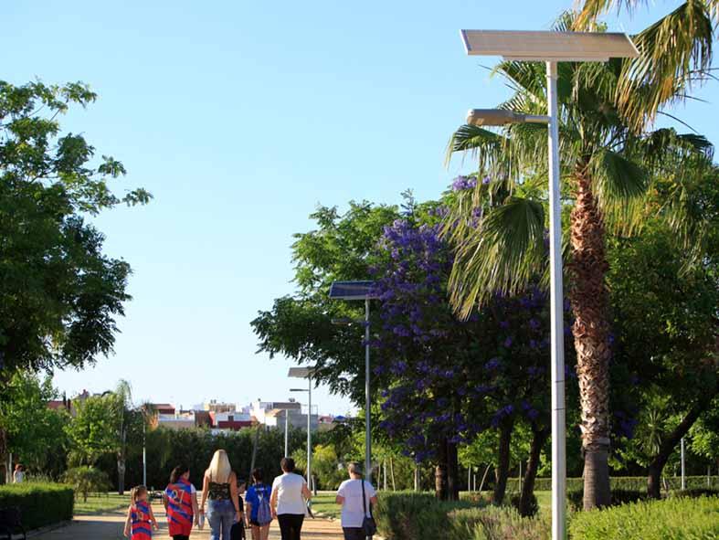 Guillena apuesta por la energía solar LED para la nueva reapertura del Parque Los Naranjales