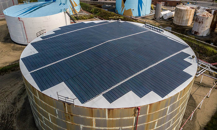 sprague-energy-installs-flexible-thin-film-solar-panels-on-its-oil-storage-tanks