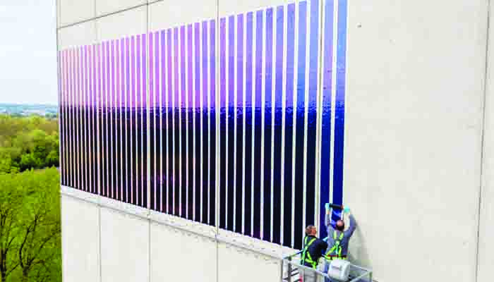 Heliatek and Lechwerke test PV facade on grain silo