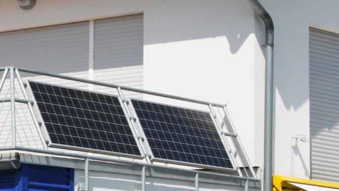 So können Sie Sonnenstrom auf dem Balkon produzieren